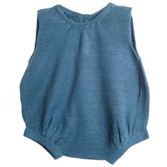 Old fashioned romper hand knitted in baby alpaca.
