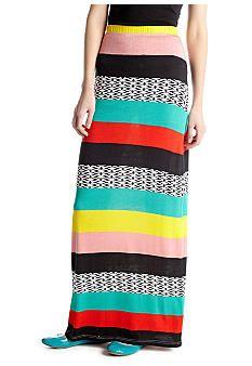 Changes Multi-Stripe Printed Maxi Skirt