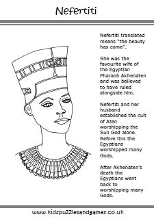 Ancient Egypt Colouring Sheets - Kids Puzzles and Games   Egypt ...