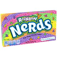Rainbow Nerds come in various colors with their original tangy fruit flavor. Add some color to the candy buffet table at your party with some Rainbow Nerds! Candy Videos, Nerds Candy, Popular Candy, Online Candy Store, Candy Buffet Tables, Rainbow Candy, Candy Brands, Chewy Candy, Favorite Candy