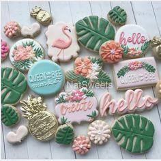 🍍 Custom Cookies for !🍃 Queen Bee Market- 🍍 Custom Cookies for !🍃 Queen Bee Market 🍍 Custom Cookies for ! Hawaiian Birthday, Flamingo Birthday, Luau Birthday, Flamingo Party, Girl Birthday, Hawaiian Baby Showers, Tropical Bridal Showers, Tropical Party, Deco Pastel