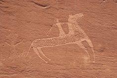 Navajo Indian petroglyphs Arizona USA