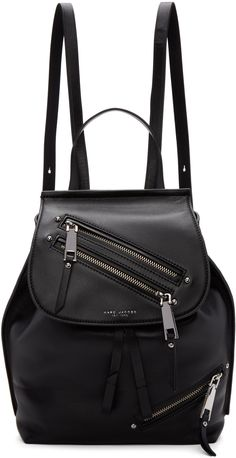 Marc Jacobs - Black Leather Zip Backpack