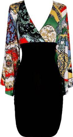 Amazon.com: Bat Wing Sleeve Dress Junior Plus Size: Clothing