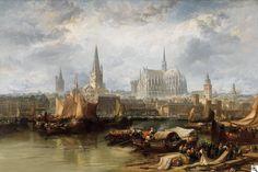 """James Webb: """"Ansicht von Köln mit dem unvollendeten Dom"""" aus unserer Rubrik: Gemälde des 19. Jahrhunderts"""