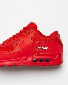 ☆ Nike Damen Sneaker Air Max 90 Mesh weißrotblau hier