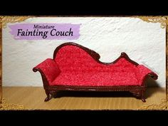 Miniature Doll Fainting Couch - Polymer Clay/Fabric Tutorial - YouTube