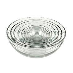 Amazon.com: Anchor Hocking Glass Bowl Set - 10 pcs: Mixing Bowls: Kitchen & Dining