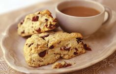 These flaky and buttery wedge-shaped scones have plenty of sweet cranberries and Diamond of California pecans in every bite.