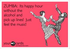 happy hour = people+ music- alcohol - pick up lines!