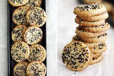 sweet + salty sesame cookies