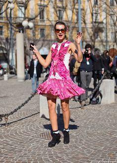 Natalie Joos #fashion #mfw #streetstyle