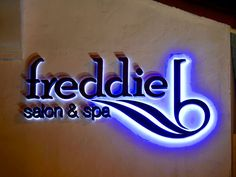 3d illuminated signs freddie salon - Google Search