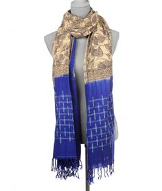 Oversized cotton scarf handmade in India. $49 on Ethical Ocean. #handmade