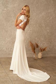 Lace Wedding Dress Open Back Dress Boho Wedding Dress | Etsy