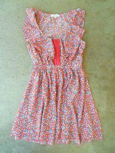 Ruffled Bluebell Dress [3025] - $34.00 : Vintage Inspired Clothing & Affordable Summer Dresses, deloom   Modern. Vintage. Crafted.
