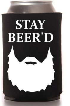 Stay Beer'd Funny Koozie by AVinylDesign3 on Etsy