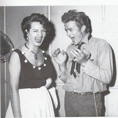 Sara Montiel & James Dean. Lovely :) What would be the joke?