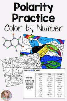 Polarity color by number from Science Rocks #chemistry #polarity