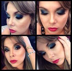 O azul continua sucesso absoluto para a maquiagem dos olhos e essa é a versão do Beauty Team da NYX do Shopping Boulevard Belém