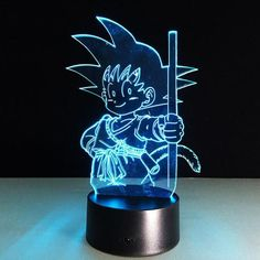 Kid Goku 3D LED 7 Colors Lamp