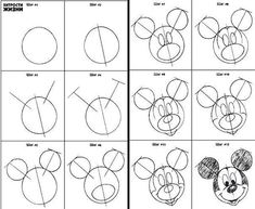 Como dibujar a mickey mouse paso a paso