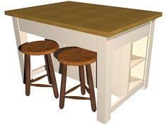 Free Standing Kitchen Island handmade freestanding shabby chic kitchen island breakfast bar