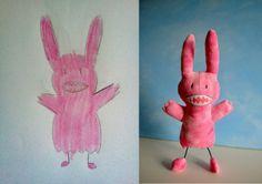 wendy tsao dessins enfants 7 Des dessins denfants transformés en vrais peluches!