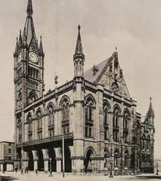 Old Town Hall Preston Lancashire England  Vintage / by LoosLoft, $4.50