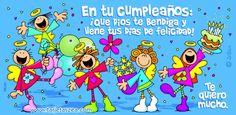 En tu cumpleaños: ¡Que Dios te bendiga y llene tus días de felicidad! Te quiero mucho.