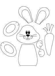 bunny head with ears coloring page Easter Bunny Colouring, Bunny Coloring Pages, Preschool Coloring Pages, Coloring Pages For Kids, Easter Worksheets, Preschool Worksheets, Paper Bag Puppets, Easter Egg Pattern, Intarsia Patterns