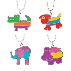 Look what I found at UncommonGoods: animal necklaces...