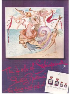 Shocking de Schiaparelli...means Paris more than any other perfume! Artwork by Dali