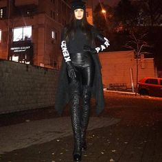 "81869e0da603a ectobuddha: ""🖤💙 Sexy leather 💯 "" Thigh High Boots Heels, Heeled Boots"