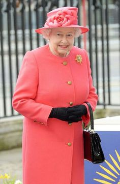 The Queenarriving at Westminster Abbey on March 10 for the Observance of Commonwealth Day service.