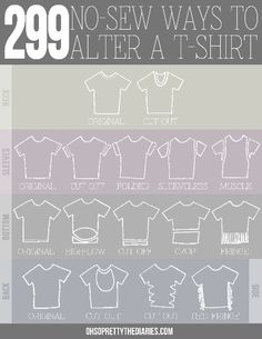 Ways to cut an old t-shirt for summer.