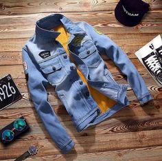 2017 Mens Retro Vintage Casual Coat Thick Outwear Men Denim Jean Jacket Us S-2Xl