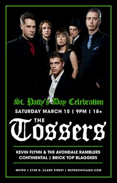 The Tossers - Kevin Flynn and the Avondale Ramblers - Continental - Brick Top Blaggers | 03.15.14 | $18 advanced, $20 day of show