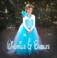 Elsa Dress by WindmillsandBubbles on Etsy, $30.00
