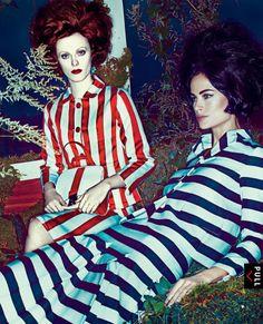 Carolyn Murphy & Karen Elson by Steven Klein for Vogue