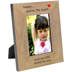 Engraved Youre The Best Wood Photo Frame - 6x4  from Personalised Gifts Shop - ONLY £16.95