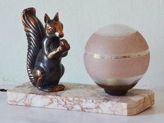 Original Vintage French Art Deco Squirrel Animal by Decofanatique, $99.00