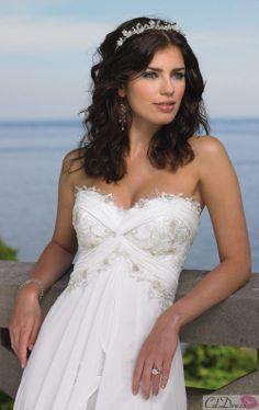 Elegant Hot Sale Sweetheart Chiffon Sweep Train Beach Wedding dress - CDdress.com