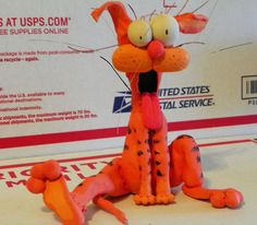 BILL The Cat! By Bloom County 6 x 6 Inch Handmade Unique Figurine - Signed