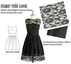 This website gives you dresses from websites (like ModCloth) and gives you the place to find the patter and fabric! How cool is that?