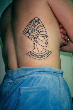 Nefertiti Line Tattoo #HotTattoos