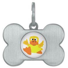 Funny Duck Bigfoot Art Cartoon Pet ID Tags #ducks #funny #petidtags #keychains And www.zazzle.com/tickleyourfunnybone*