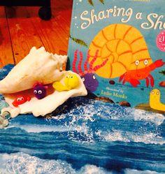 Sharing A Shell - Julia Donaldson Sharing A Shell, Storytelling Books, Julia Donaldson Books, Discovery Zone, Story Sack, Story Retell, Rainbow Fish, Eyfs, Retelling