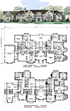 the flowing symmetry, defined rooms including. -Love the flowing symmetry, defined rooms including. - 56 trendy house plans luxury chateaus World Class - House Plans Mansion, Dream Mansion, Luxury House Plans, Dream House Plans, House Floor Plans, My Dream Home, Dream Homes, Luxury Houses, Hotel Floor Plan