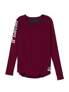 Mesh back long sleeve - pink - victoria's secret size: s in russian ru Purple Long Sleeve Tops, Mesh Long Sleeve, Long Sleeve Shirts, Lazy Day Outfits, Pink Outfits, Pink Mesh Top, Victoria Secret Rosa, Victoria's Secret, Mode Blog